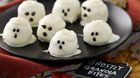 Ghostly Granola Bites