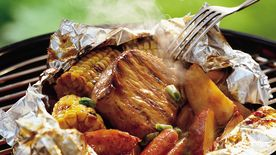 Grilled Honey-Barbecue Pork Foil Packs