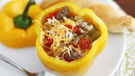 Slow-Cooker Soup-Stuffed Bell Peppers