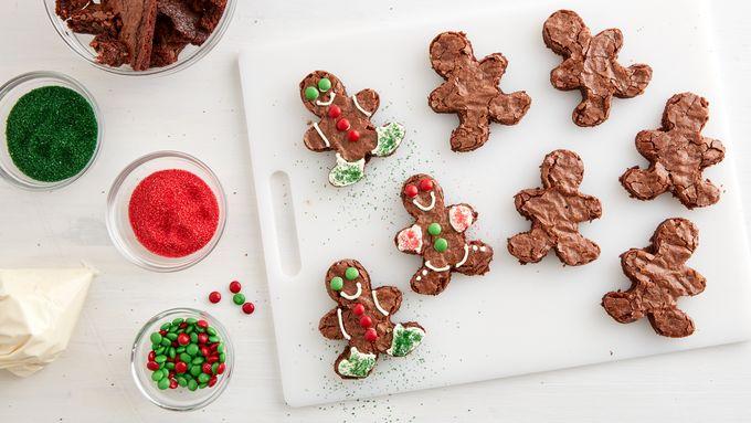 Brownie Gingerbread Men Recipe Bettycrocker Com