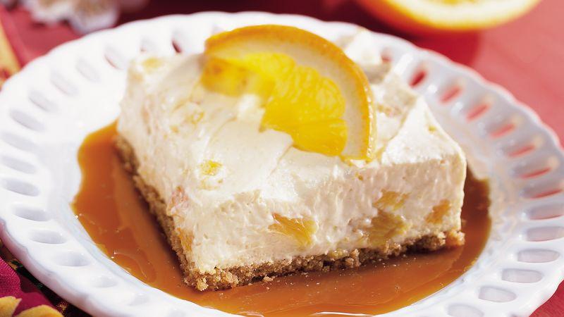 Orange Dessert with Caramel Sauce