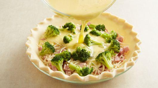 Ham And Broccoli Quiche Recipe Pillsbury Com
