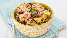 Shrimp and Mango Grain Salad