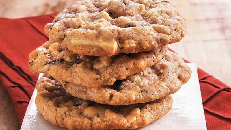 White Chocolate Raisin Oat Cookies