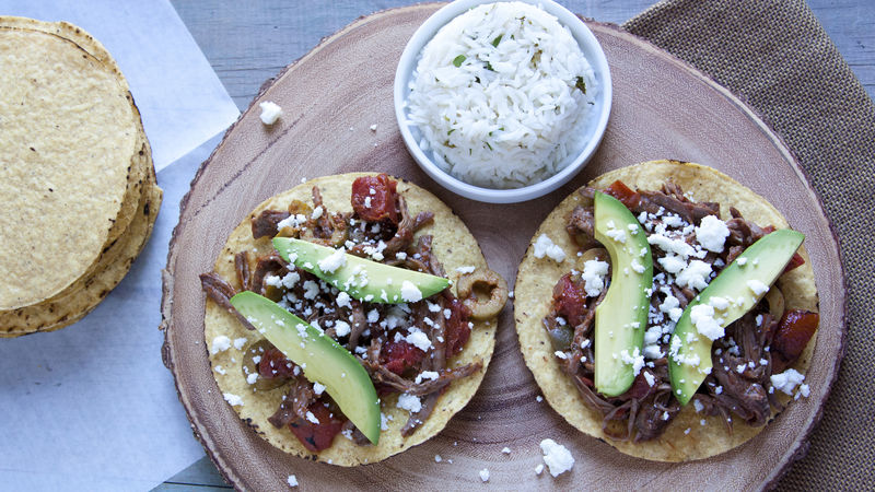 Slow-Cooker Ropa Vieja Tostadas