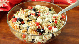 Red, White and Blueberry Pasta Salad
