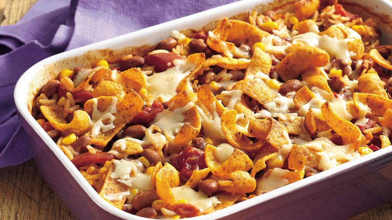 Chipotle Red Beans and Rice Casserole