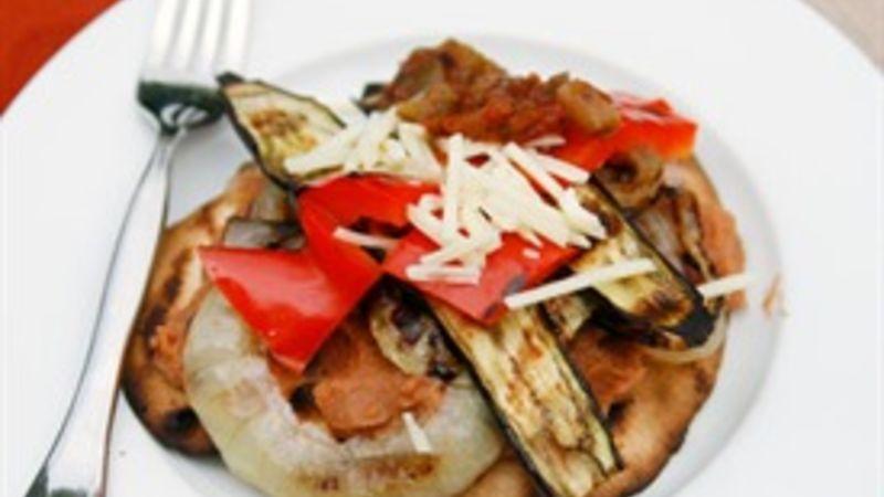 Grilled Veggie Tostadas