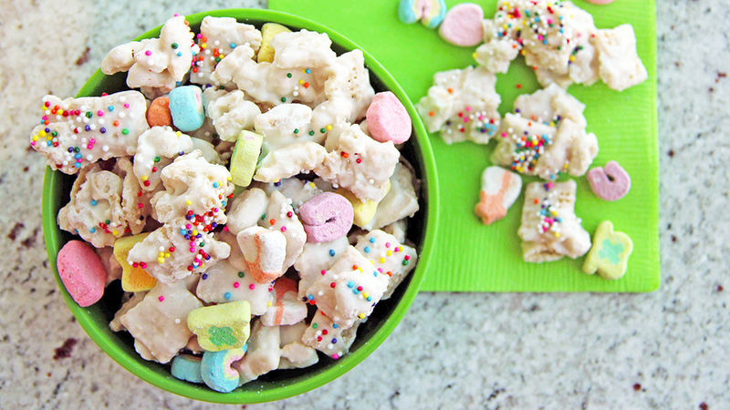 Sensational Lucky Rainbow Chex Mix Recipe Tablespoon Com Funny Birthday Cards Online Chimdamsfinfo