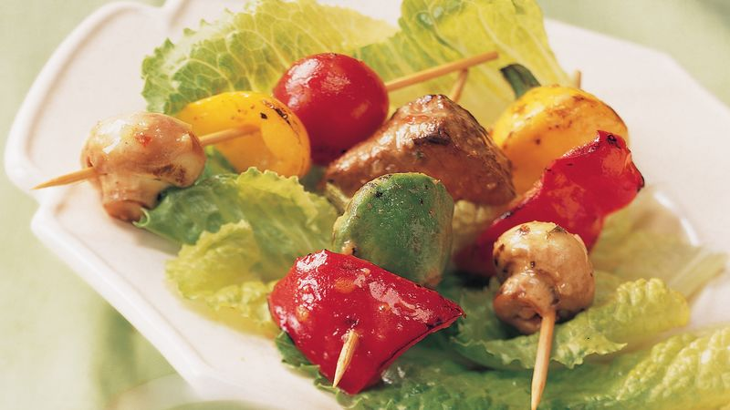 Grilled Caesar Beef Appetizer Kabobs
