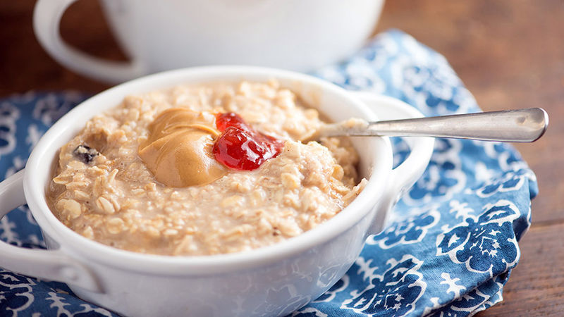 Peanut Butter and Jelly Oatmeal