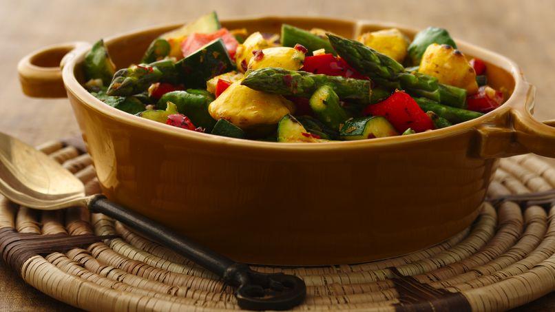 Verduras Asadas  con Chipotle
