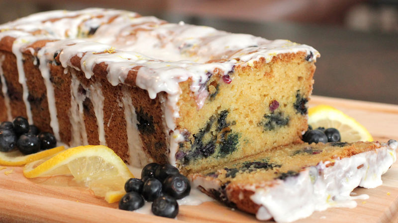 Glazed Lemon Blueberry Loaf Recipe Bettycrocker Com
