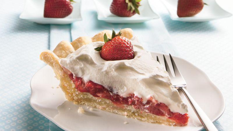 Tarte aux fraises et à la crème à croûte farcie