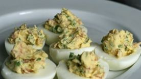 Prosciutto and Arugula Deviled Eggs