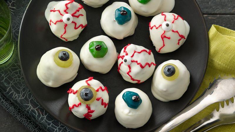 Zombie Eyeball Granola Bites