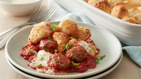 Upside-Down Meatball Casserole