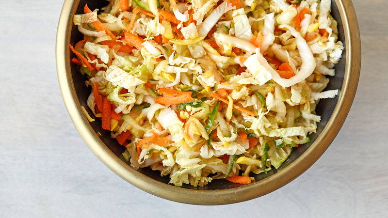 Sesame Soy Napa Cabbage Slaw Recipe Tablespoon Com