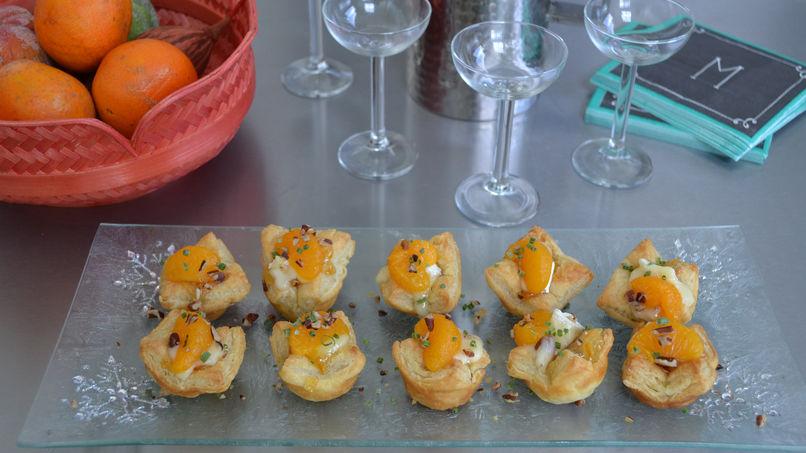 Saquitos Rellenos con Compota de Mandarinas y Queso Brie
