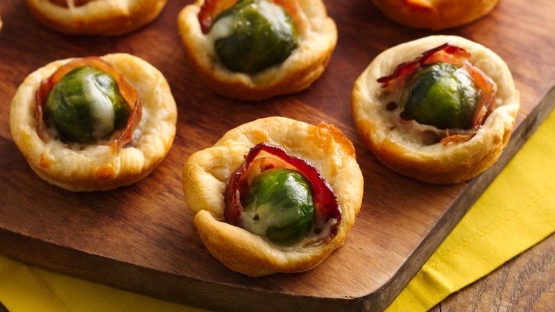 Brussels Sprouts and Bacon Crescent Cups