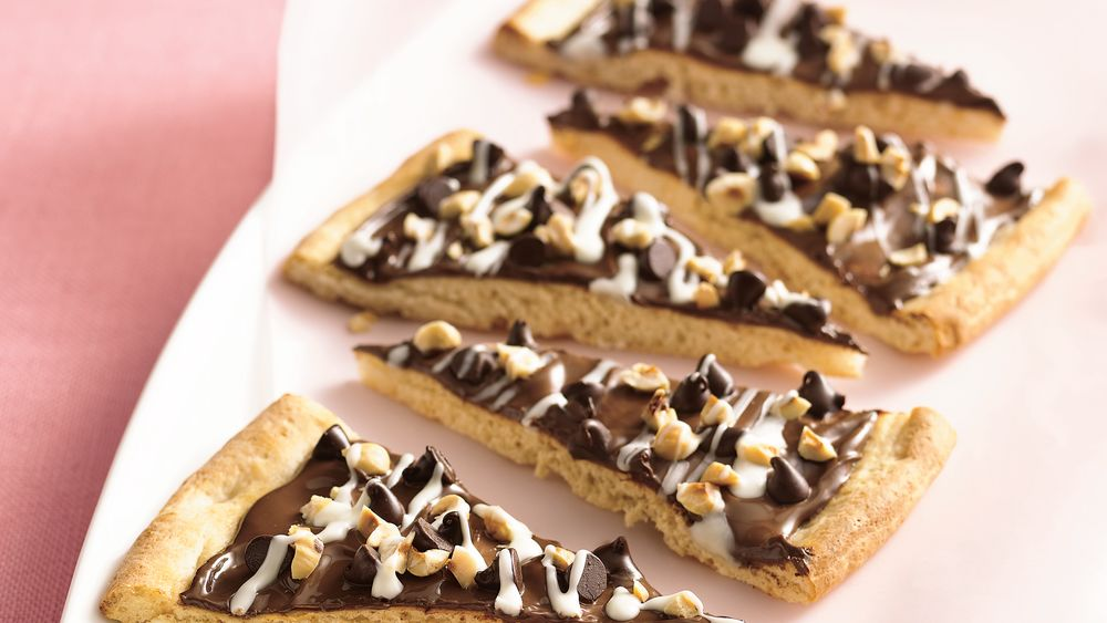 Chocolate-Hazelnut Pizza