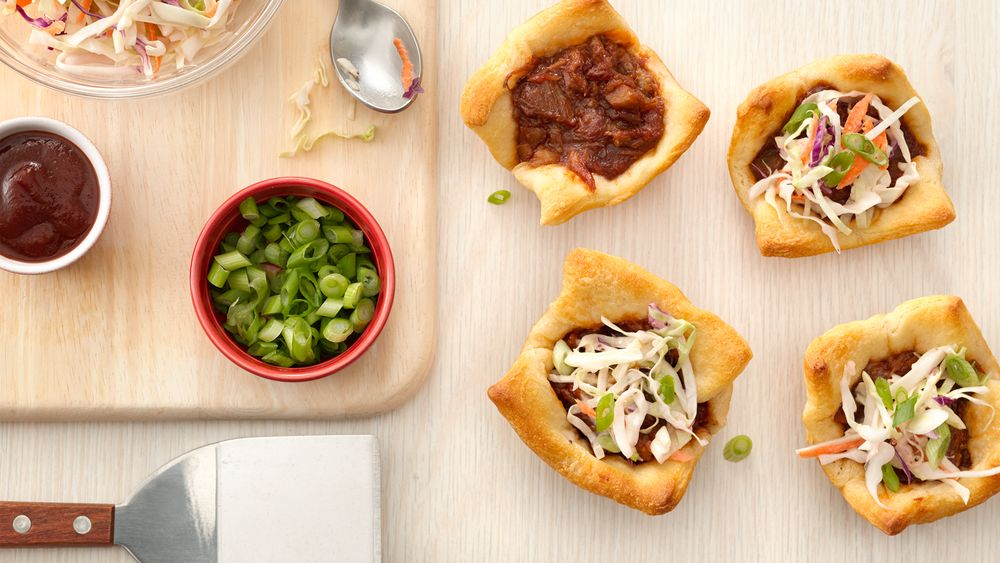 Pulled Pork Crescent Cups
