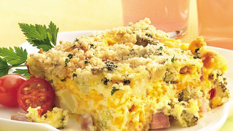 Ham and Broccoli Bake with Parmesan Streusel