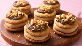 Fudgy Peanut Butter Sandwich Cookies
