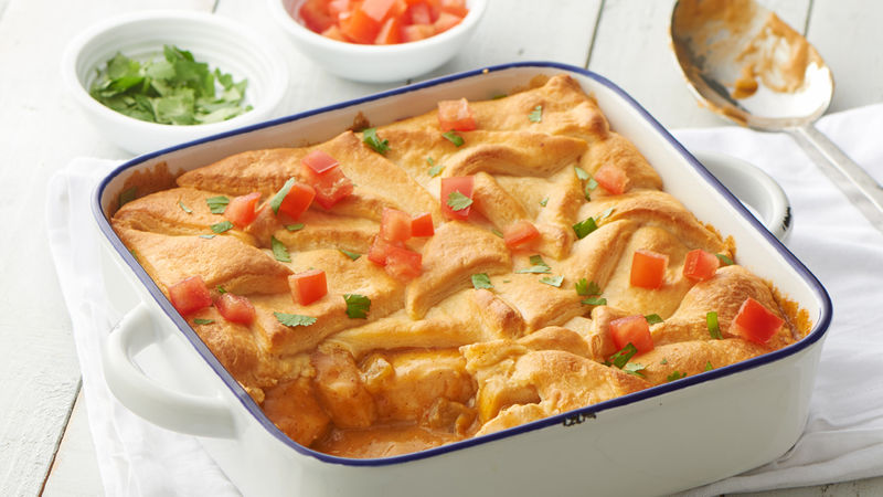 Green Chile Chicken Crescent Bake