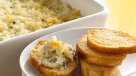 Baked Clam Dip with Crusty French Bread Dippers