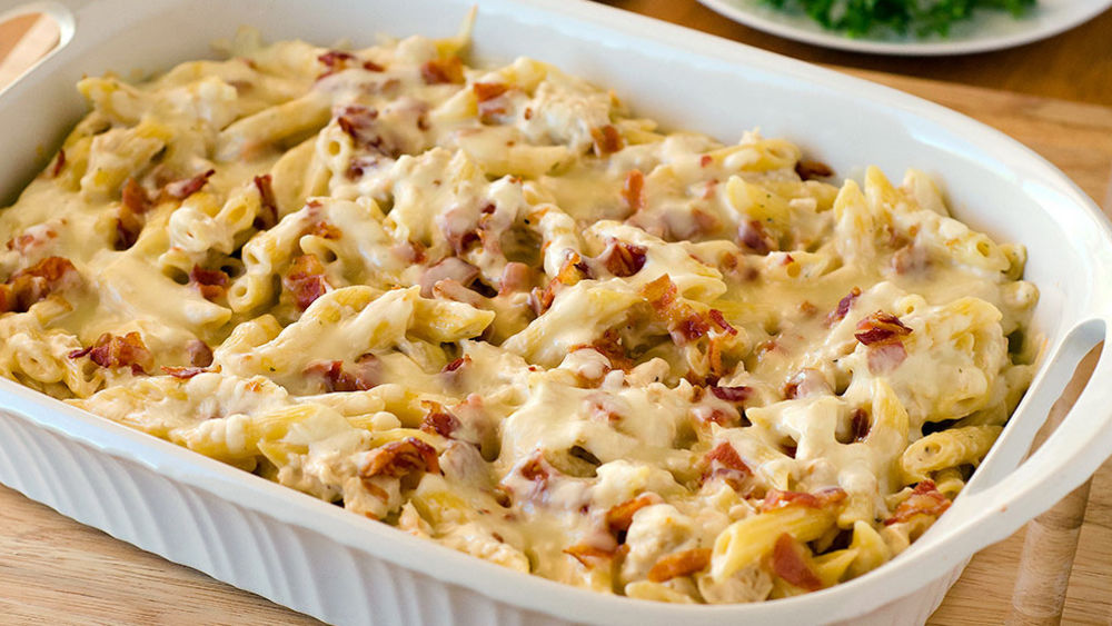 Chicken-Bacon-Ranch Baked Penne Recipe From Pillsburycom-1971