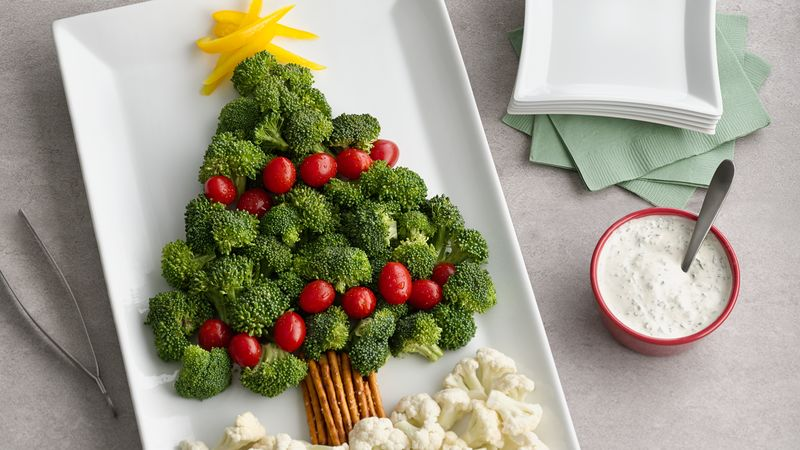 Christmas Tree Vegetable Platter Recipe - BettyCrocker.com