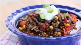 Healthy Spicy Beef and Bean Chili