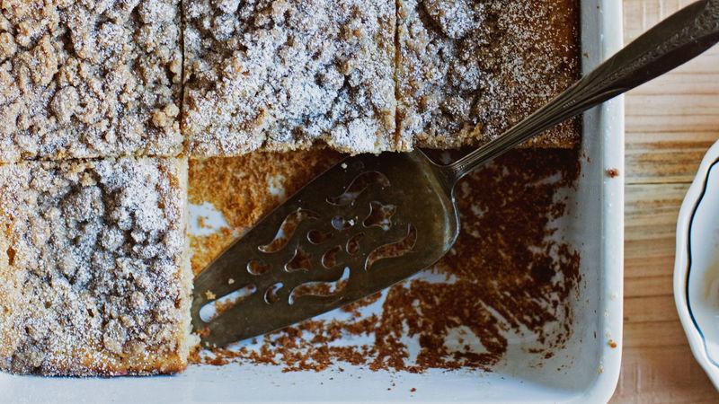 Cinnamon Streusel Pancake Casserole