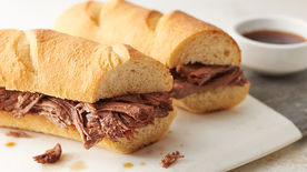Slow-Cooker French Dip with Au Jus Sauce