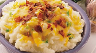 Cheddar, Bacon and Onion Mashed Potatoes
