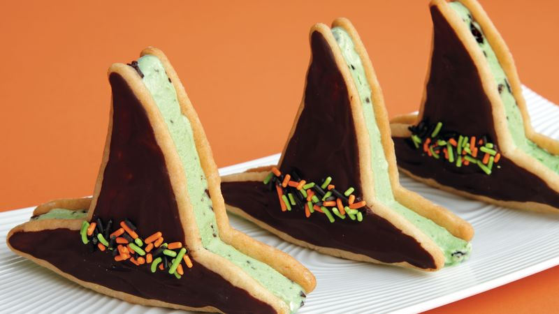 Witch Hat Ice Cream Sandwiches