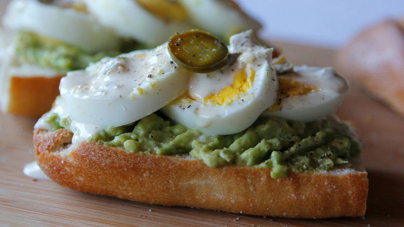 Hard-Boiled Egg, Avocado, and Jalapeño Toast