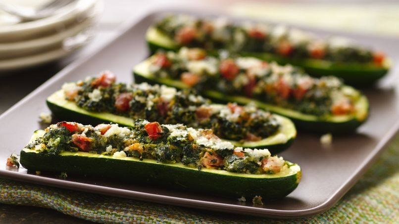 Basil and Parmesan-Filled Zucchini