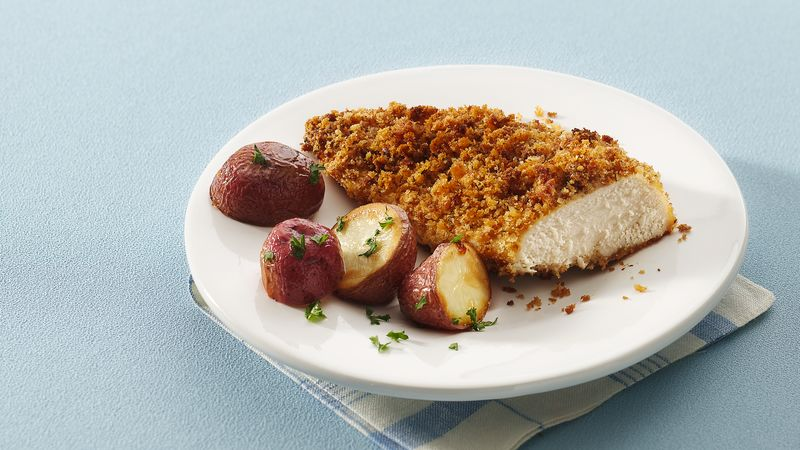 Crispy Stuffing-Coated Chicken Breasts
