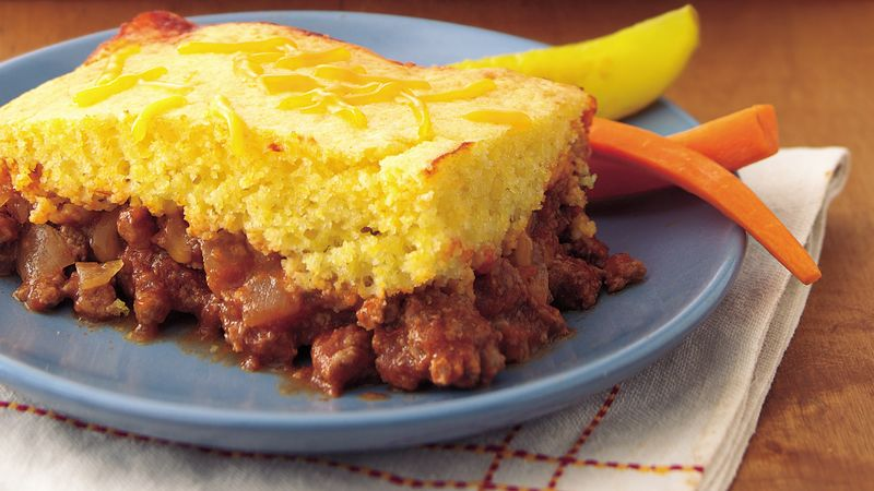 Sloppy Joe Corn Bread Casserole