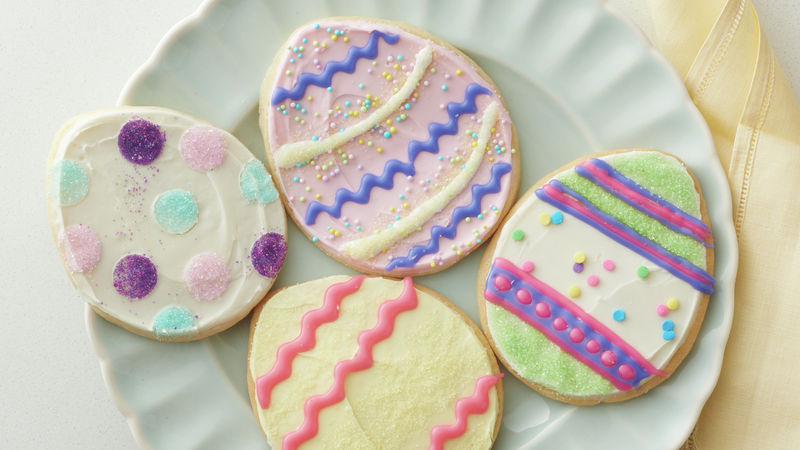 Decorated Easter Egg Sugar Cookies