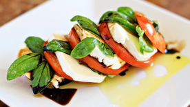 Stacked Caprese Salad with Balsamic Vinegar