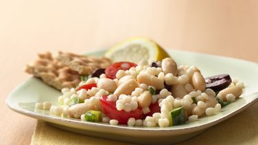 Tuscan Couscous with Lemon Basil Dressing