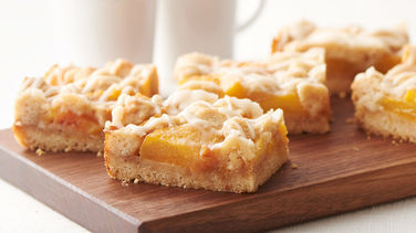 Brown Butter Peach Crumble Cookie Bars