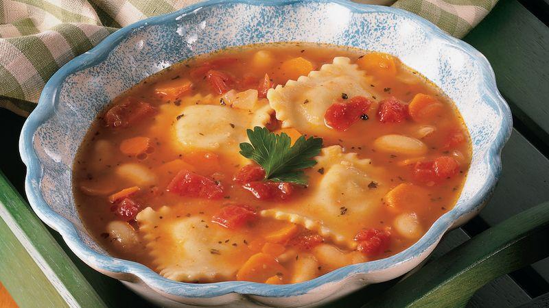 Slow-Cooker Italian Ravioli Stew