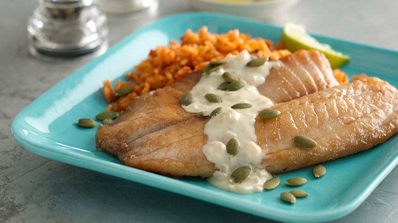 Pan-Seared Tilapia with Lime-Butter Sauce
