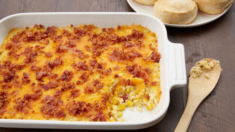 Bacon-Cheddar Corn Casserole