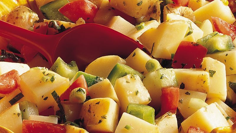 Potato-Vegetable Salad with Cilantro Dressing