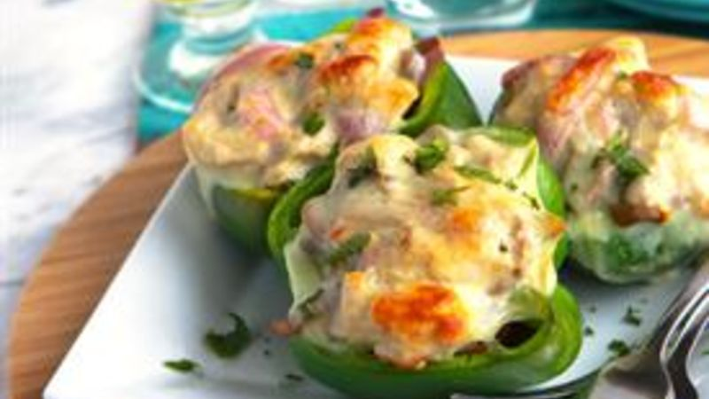 Philly Turkey Stuffed Green Peppers